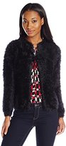 Calvin Klein Women's Faux Fur Sweater Knit