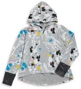 Flowers by Zoe Girl's Leather Detail Splatter Hoodie