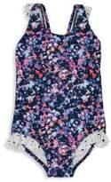Andy & Evan Toddler's & Little Girl's One-Piece Splatter Swimsuit