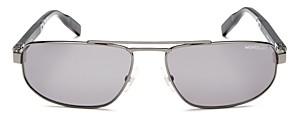 Montblanc Men's Brow Bar Square Sunglasses, 60mm