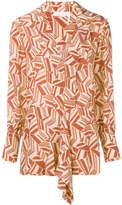 Chloé geometric print blouse multicolor