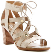 Naturalizer London Metallic Strappy Block Heel Sandal