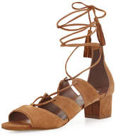 Tabitha Simmons Isadora Suede Lace-Up Sandal, Sand