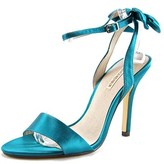 Menbur Milan Bow Women Open-toe Canvas Green Heels.