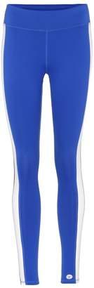 Tory Sport Color-Block striped leggings