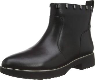 FitFlop Women's Cb1-090 Jacinta Zip Ankle Boot - Liquid Mercury