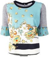 Etro floral print top - women - Cotton/Linen/Flax/Polyamide/Viscose - 40
