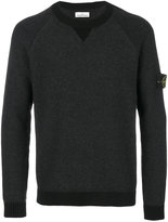 Stone Island patch sleeve jumper