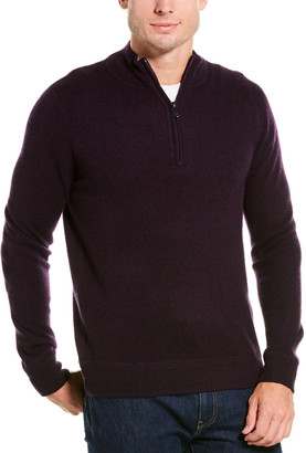 Raffi Zip Mock Neck Cashmere Sweater