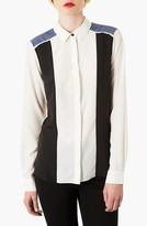 Topshop Mixed Panel Shirt