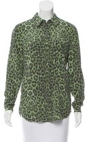 Equipment Silk Leopard Print Top