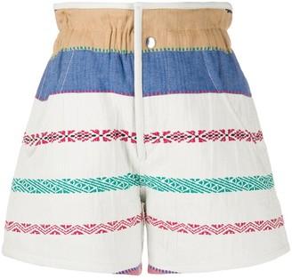 Isabel Marant Embroidered Denim Shorts