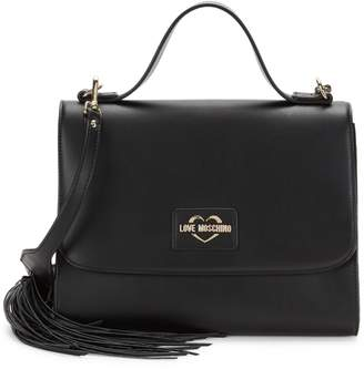 Love Moschino Tassel Faux Leather Top-Handle Bag