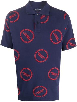 Martine Rose Logo Print Polo Shirt