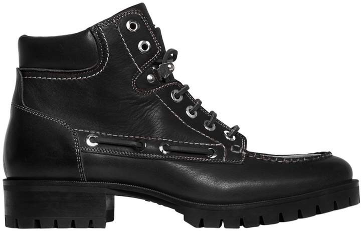 DSQUARED2 40mm Boy Scout Leather Ankle Boots