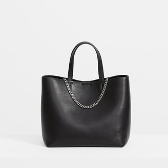 Theory Micro Tote in Leather