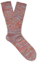 Anonymous Ism - Mélange Knitted Socks - Red