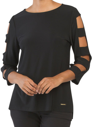 Hi-lo Cut Out Sleeve Top