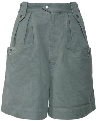 Etoile Isabel Marant Palino Cotton Gabardine Shorts