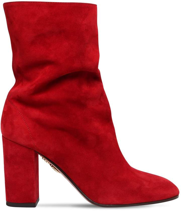 Aquazzura 85mm Boogie Suede Ankle Boots
