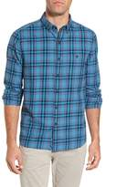 Michael Bastian Trim Fit Plaid Flannel Sport Shirt