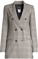 Lafayette 148 New York Saxon Houndstooth Wool Blazer