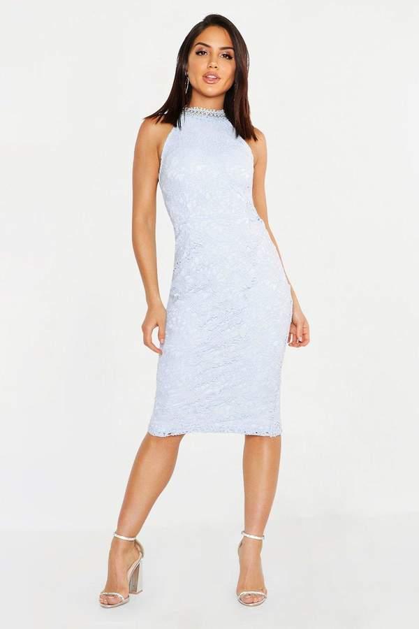 cd97281fb22 boohoo Blue Lace Midi Dresses - ShopStyle UK