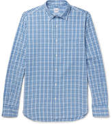 Aspesi Checked Cotton-seersucker Shirt
