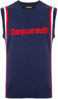 DSQUARED2 Logo Embroidered Vest