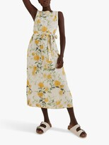 Thumbnail for your product : Fat Face FatFace Laurie Floral Print Midi Dress, Ecru