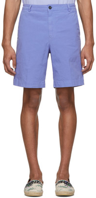 Kenzo Purple Garment-Dyed Shorts
