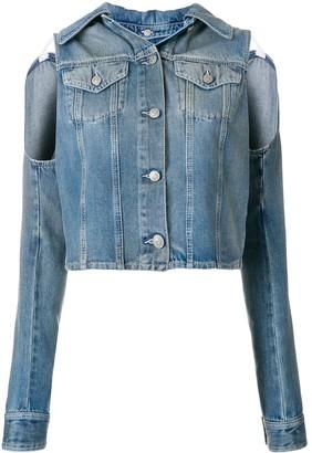 MM6 MAISON MARGIELA Cut-Out Shoulder Denim Jacket