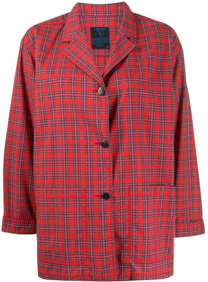 Valentino Pre Owned 1990s Checked Boxy Shirt