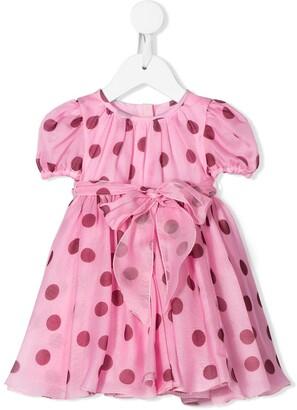 Dolce & Gabbana Polka Dot Print Mini Dress