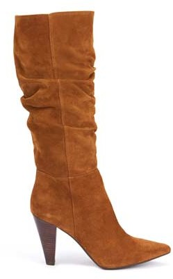 Mint Velvet Lulu Tan Suede Slouchy Boots