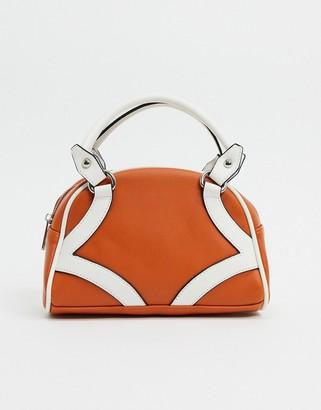 Glamorous bowler bag in tan