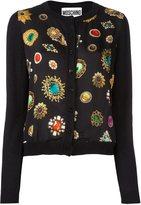 Moschino jewel print cardigan