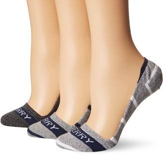 Sperry Women's 3 Pack Marl Stripe Invisible Liner Socks