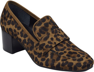 Marc Fisher Hudsonly Leopard Calf Hair Dress Loafers