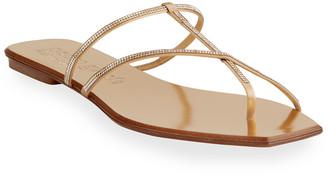 Pedro Garcia Vivian Flat Crystal Thong Sandals