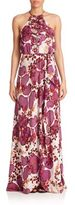 Diane von Furstenberg Veronnica Floral Halterneck Gown