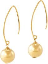 14K Gold Polished Bead Drop Earrings