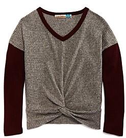 Vintage Havana Girls' Twist Front Sweater - Big Kid