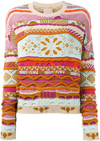 Laneus jacquard jumper - women - Cotton - 38