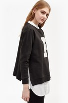 French Connection F Zip Graphic Sweatshirt