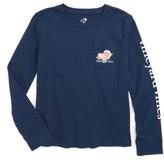 Vineyard Vines Girl's Turkey Whale Pocket Tee