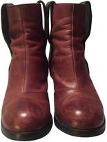 Maison Margiela Burgundy Leather Boots