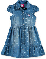 Hello Kitty Bow Denim Dress, Toddler Girls & Little Girls (2T-6x)