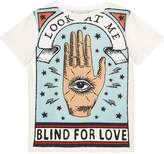 Gucci Kids Children's cotton T-shirt with Blind for Love print