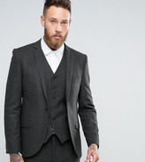Heart & Dagger Skinny Suit Jacket In Dogstooth
